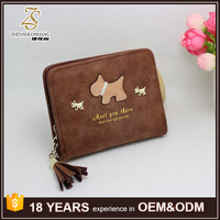 Fashion Design Women's Short Wallet Customized Leather Purse