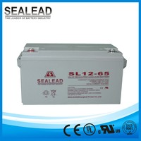 Minor self-discharge 12 v65ah long circle life battery for solar water warming system