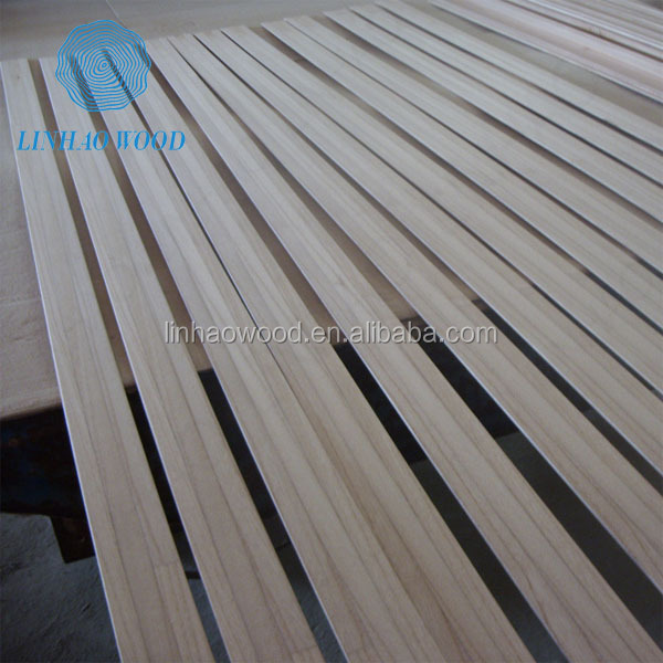Paulownia wood strips for furniture use