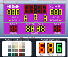 LED scoreboard for outdoor sports LED electrical digital scoreboard LED sign