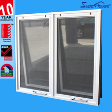 Australian standard aluminum double chain winder window with fly screen