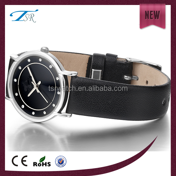 Classic quartz watch, Alloy case with leather handle, watch with factory price