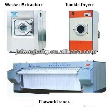 Washer, Dryer, Ironer, Folder, etc., Heavy duty hotel linen laundry equipment