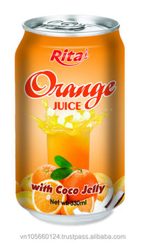 Pure Orange Juice With Coco Jelly