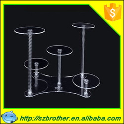 Factory wholesale customized cupcake holder, cake stand crystal, wedding cake stand crystal