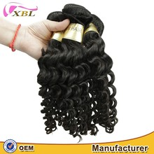 Unprocessed virgin remy 100 raw European deep wave human hair