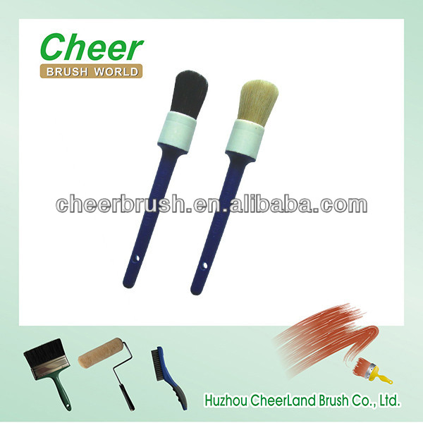 round paint brush with long handled soft bristles brush and wooden handle with free samples cheer77