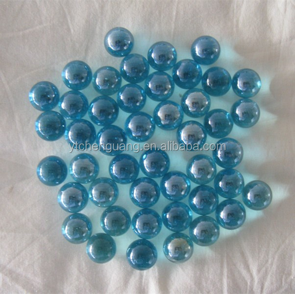 Decorative clear color solid glass marble balls christmas