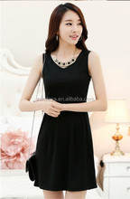 Polyester / Cotton Material and OEM Service Supply Type women jumper skirt / vest dress /finery dresses