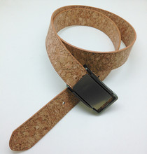 Boshiho Eco-Friendly Vegan Dark&Light Brown Cork Belts