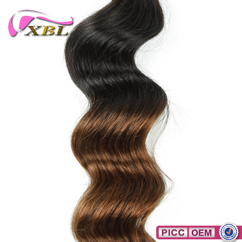XBL New Arrival Ombre Loose Wave 100 Brazilian Human Hair Extension