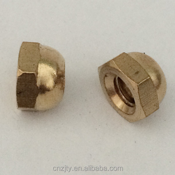 Acorn nut hex Cap nut with brass material