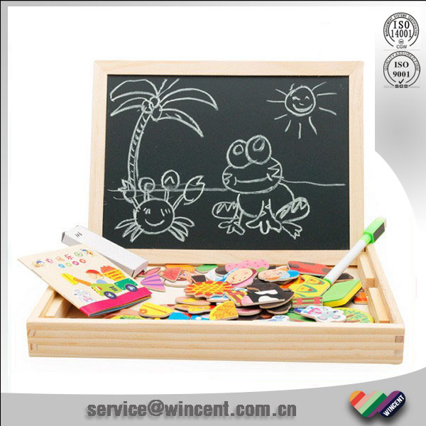 black-and-white board drawing toy series wooden magnetic Jigsaw for kids puzzle