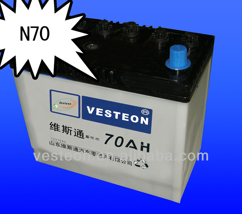 Auto Lead Acid Car Battery Korea Technology JIS/DIN Series N150 12V150AH used car in Dubai