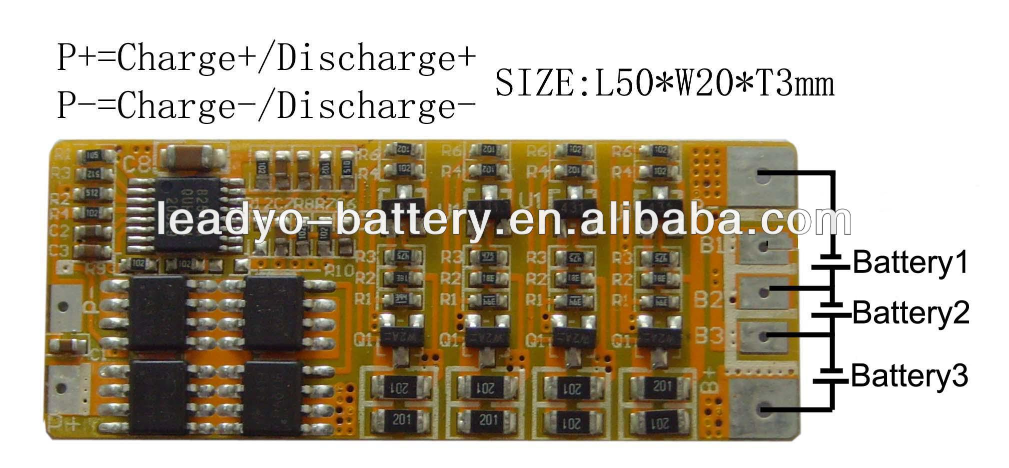 BMS 3s 9.6V PCM lifepo4 battery board smart PCB 9.6V equipment