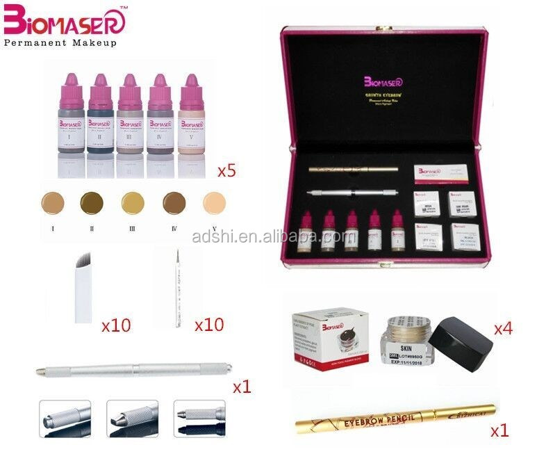 Eyebrow Microblading kit,Micro Needling Set With 4 Eyebrow Pigment