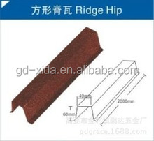Stone coated Roof sheet Accessories Ridge Hip/Roof Tiles Ridge Hip