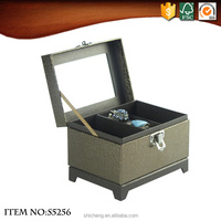Artificial Leather Hand Make Jewelry Paper Box