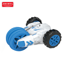 NEW ! design stand 360 degrees double side rolling strong battery power foldable wheel wireless radio control rc toy stunt car
