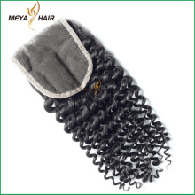 Best choice Peruvian human hair, nobel Soft and smooth 4x4 curl Lace closure hair