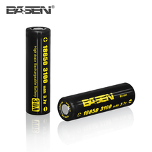 High capacity Basen 18650 3100mah 30A large lithium-ion batteries 3.7v for sale