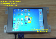 low cost 8.4 inch industrial grade lcd monitor, 5 wire resistive touchscreen, for medical and hmi system