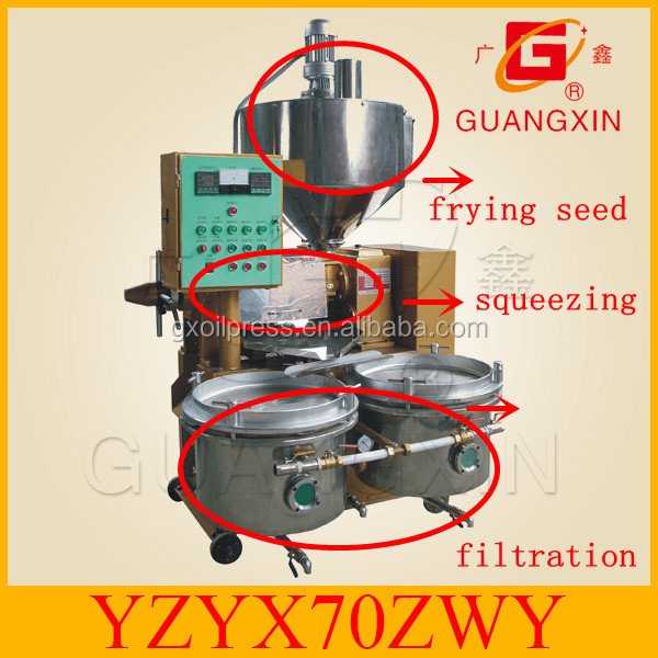 POPULAR ! Food nuts seeds oil processing machine cooking oil expeller GuangXin YZYX70ZWY
