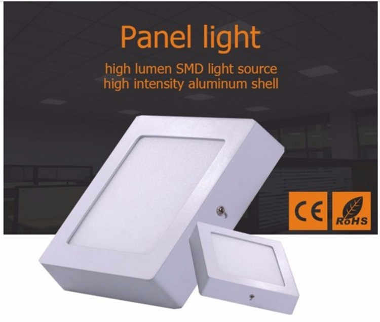 Best sale high Lumen surface mounted led flat panel 6W