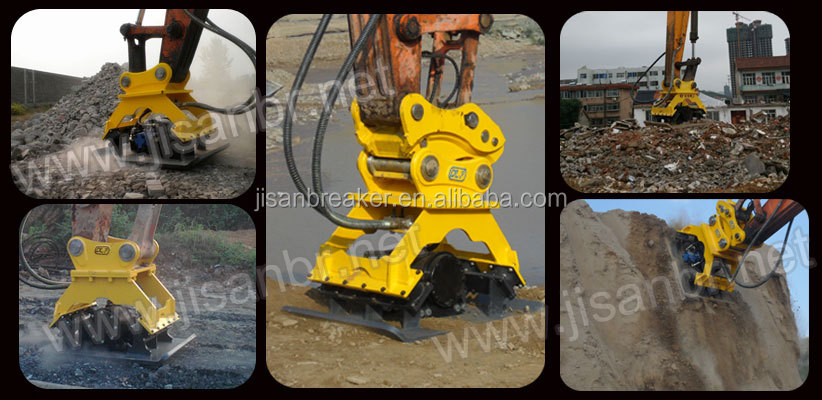 High quality hydraulic vibrating plate compactor for EC210 excavator