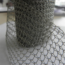 Stainless steel copper knitted wire mesh gas liquid filter mesh for air cleaning