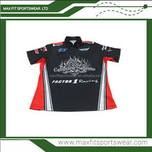 quick dry poloyester racing pit crew shirt wholesale racing team shirt