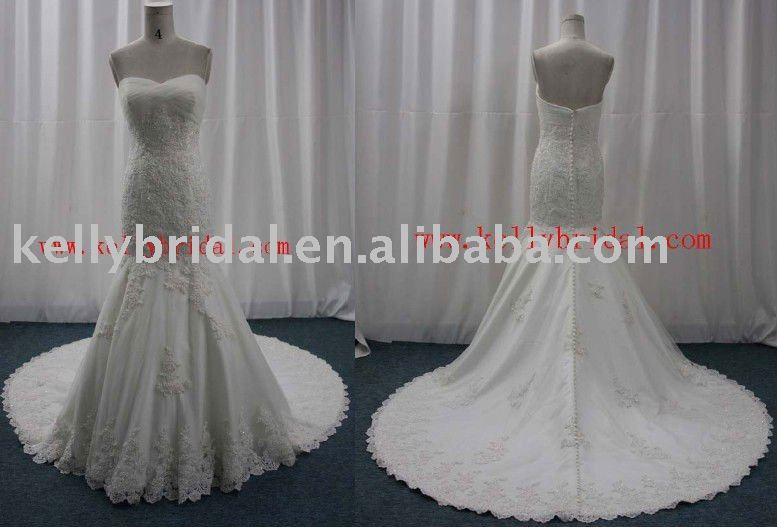 Dropshipping Cathedral skirt popular wedding dress