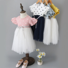 W6025 Summer Girl Dress Kids Dresses For Girls Party Princess Children Vestidos Birthday Party Gown