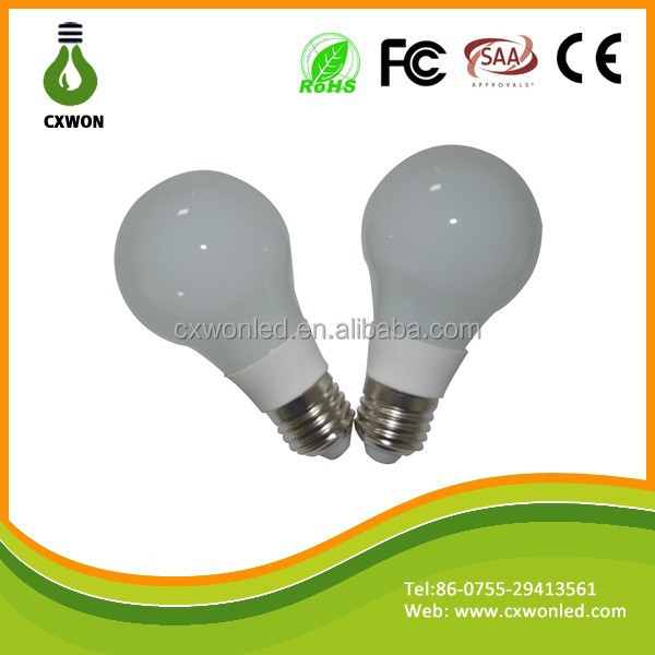 China Shenzhen Dimmable bayonet led bulb 360 degree E27/E26/B22 A60 12W AC85-265V led lamp bulb light