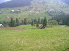 Land in Carpathian Mountains, Ukraine