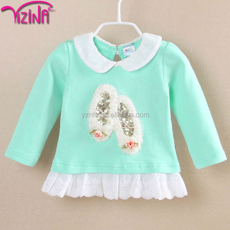 Baby cotton t-shirt clothes wholesale price from China factory