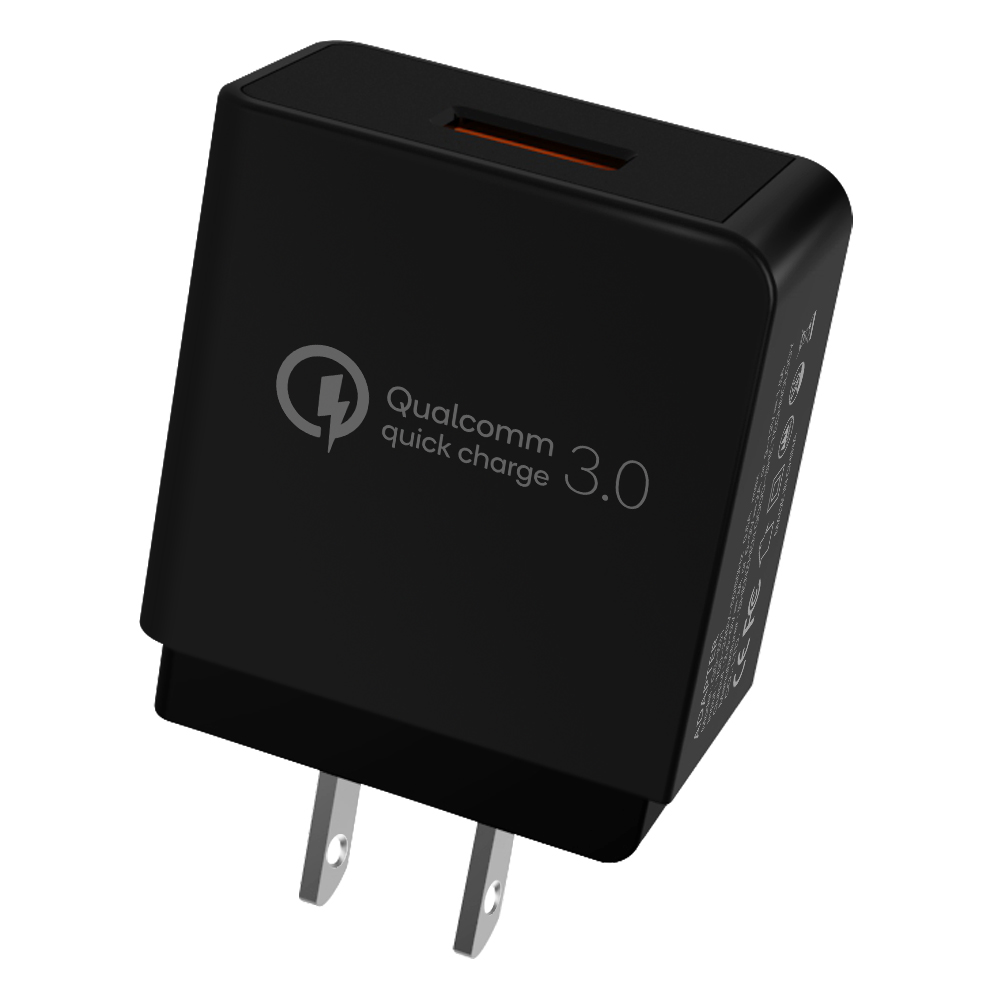 Quick Charge 3.0 Wall Charger 18W Qualcomm 3.0 USB Power Adapter for Smart Phone