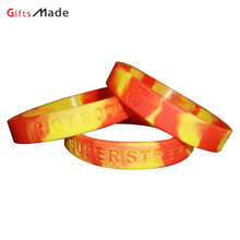 China factory made colorful hand bands custom camouflage silicone wristband