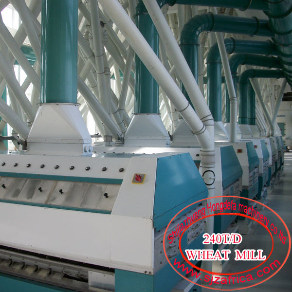 5-1000t/24h wheat flour mill plant European standard Pneumatic roller mill, Plansifter, purifier, Automatic packing machine