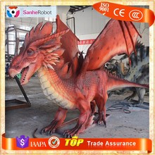 SH-RC009 Outdoor playground decor rubber animatronic dragon statue for sale