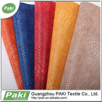 Snake Skin Synthetic Leather For Bags