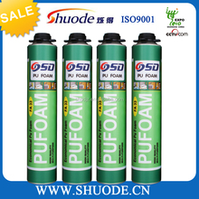 500ml expanding polyurethane foam sealant for construction
