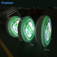 double sided LED outdoor illuminated beer projecting signs