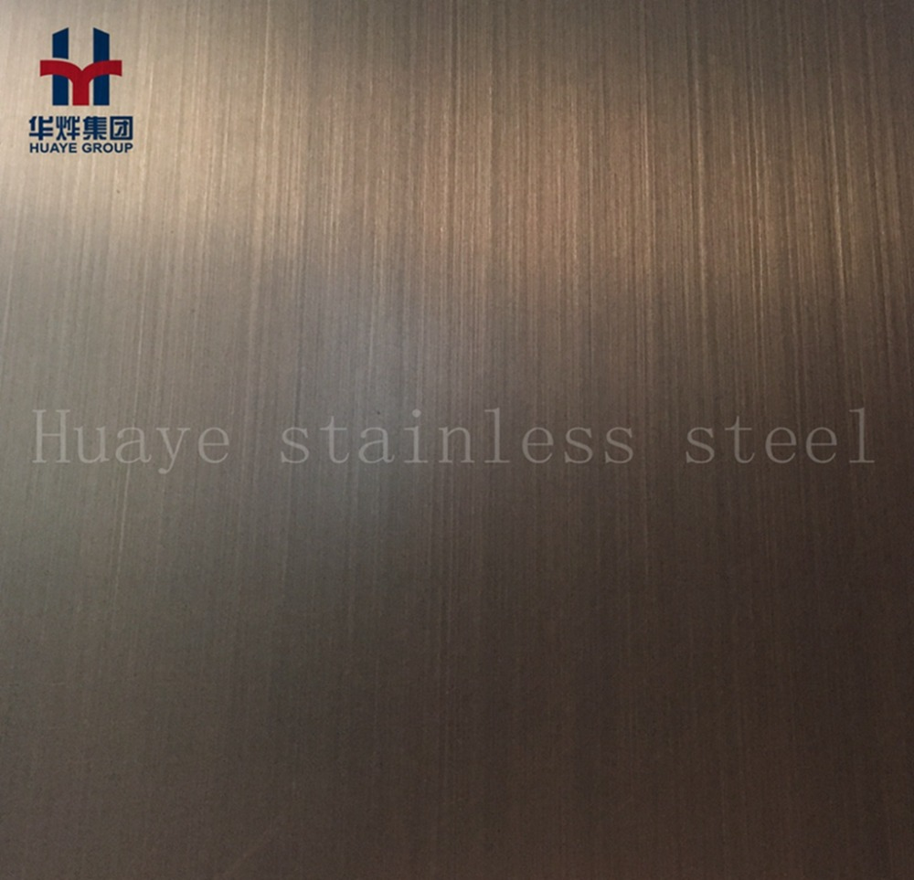 PVD Plating Stainless Steel Antique Bronze Colored Sheet Hairline Surface