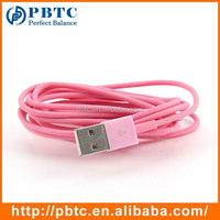 Cute 2M Pink Usb phone jack Cable For iPhone 5 , 5S , 6 , iPad