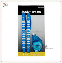 Ballpoint pen and correction tape stationery set , mix stationery set , school stationery set