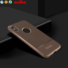 shockproof protective TPU cover carbon fiber case for iPhone X