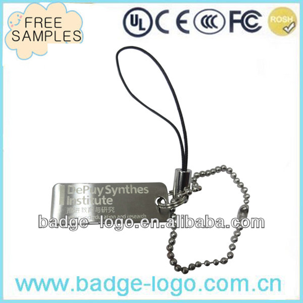 rectangle stainless steel blank metal keychain for souvenir
