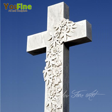 Simple Design Stone Cross Headstone for Sale