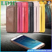 For iphone 6 PU Leather Practical Card Insert On Back Case For Apple iPhone 6 6S 4.7 inch Cellphone Cover Shockproof Shell i6